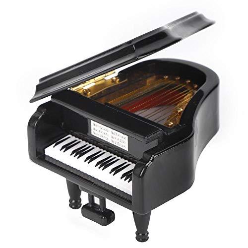 Miniatuurpiano, Mini Basswood Piano Muziekinstrument Model Hobby Collectibles Gift voor Huisornamenten 2.8 x 3.1 x 2.2in