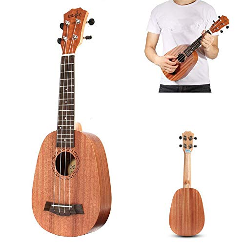 Ukulele Ukulele 21inch 4 Saiten Ukulele Ananas-stil Mahagoni Hawaii Uke E-bass-gitarren Für Gitarren-musikinstrumente