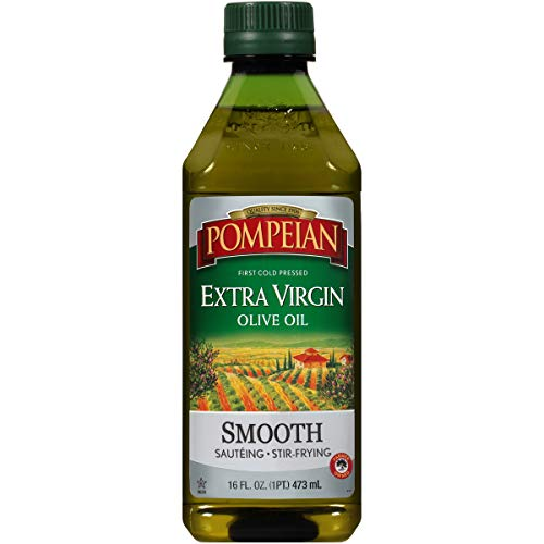 Pompeian Smooth Extra Virgin Olive Oil, First Cold Pressed, 16 FL. OZ., Single Bottle