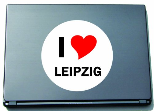 I Love Aufkleber Decal Sticker Laptopaufkleber Laptopskin 210 mm mit Stadtname LEIPZIG
