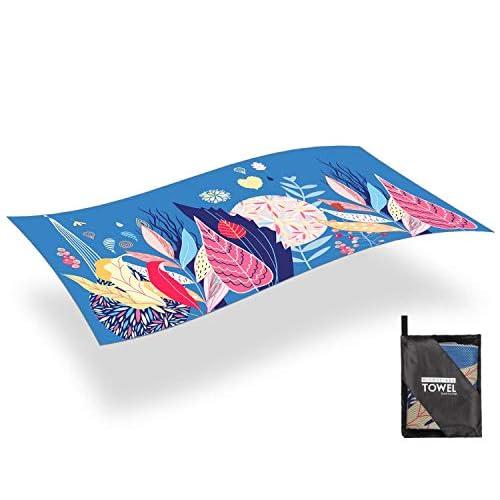 AGPTEK Telo Mare Microfibia Telo da Bagno per la Spiaggia Asiugamano Telo Antisabbia Super Assorbente Ideale per Le attività Aperta, 180 * 80cm, Aranciata