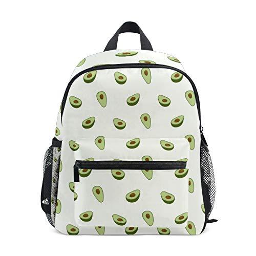 CPYang Mochila para niños con estampado de aguacate de frutas, bolsa escolar, para niños y niñas