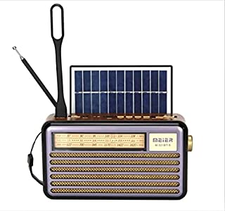 Solar Rechargeable Radio - Bluetooth - 3 Bands - SD Flash memory Music Player
