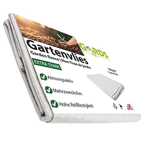 Gards NEU Gartenvlies - Trennvlies - Kiesunterlage, Drainagevlies, reißfest - lichtdurchlässig - wasserdurchlässig - UV stabilisiert - GRAU, 3x1 Meter, 130g/m2