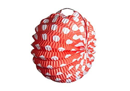 Farolillo de Papel 22 cm de Lunares y 6 Colores (Pack de 12) Celebración Feria en casa 2021, Feria de Abril Sevilla, Feria de Málaga, Fabricados en España, con Alambre para Colgar