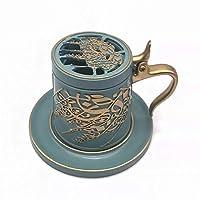 HYFJP ホームウードバーナーホルダーのためのアラビア語樹脂香炉Bakhoorボックス中東Dukhoon (Color : E ブルー, Size : フリー)