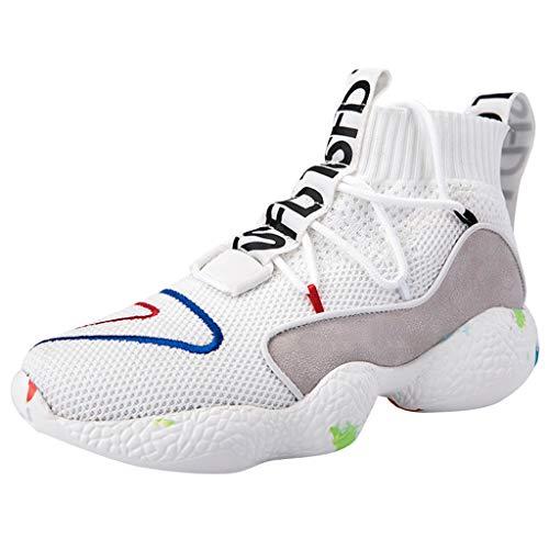 HEETEY Herren Damen Sportschuhe Laufschuhe, Paar Outdoor Mesh Lace-Up Lässige Sportschuhe Laufen Sie atmungsaktive Schuhe Sneakers Leichte Schuhe