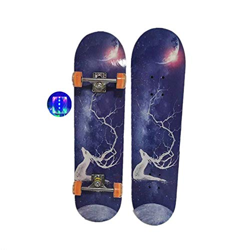 Damai Skate Board Longboar 31 Zoll Komplette Skateboard Cruiser Blitzräder Retro Skateboard Für Kinder Jugendliche Erwachsene,A