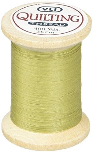 YLI 21104-009 3-Ply T-40 Cotton Hand Quilting Thread, 400 yd, Spring Green