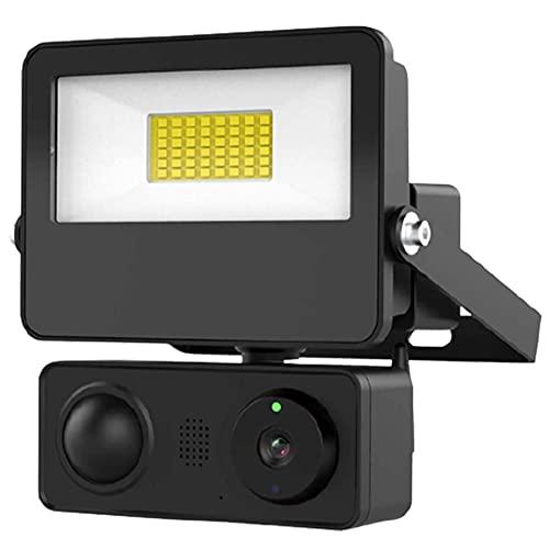 Floodlight Security Camera, Sdeter 1080P Outdoor WiFi Camera, Auto Night Vision, Motion-Activated Lights, Two-Way Audio, 3400-Lumen Brightness, IP65 Waterproof for Garage/Garden/Yard/Street