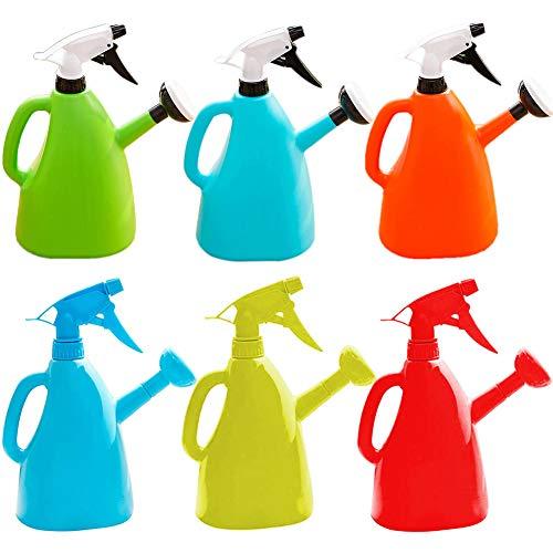 YUIP 2 PCS Water Spray Bottlem, Plastik Blumensprüher, 600 ml Gießkanne, Gießkanne mit doppeltem Verwendungszweck, Gießkanne für Erwachsene oder Kinder, Gartenbewässerungskessel,Farben Mischen