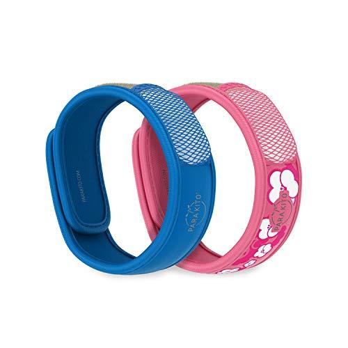 Para'Kito Mosquito Repellent Bonus Pack - 2 Wristbands | 2 Refills (Blue + Sakura)