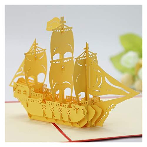 WENAN Geschenkkarte 3D Geburtstagskarte Geschenk Welt Attraktionen Karte Geschäftsreise Postkarte Gruß Grußkarte (Color : Spongebob)