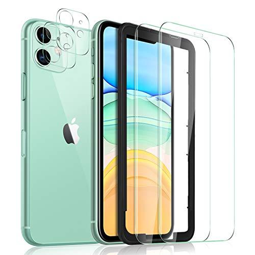 Yocktec Schutzfolie für iPhone 11 Panzerglas+Kamera Panzerglas [2+3Stück] mit Installationswerkzeug, 9H Hartglas Blasenfrei Displayfolie Passt Ersatz für iPhone 11 6.1 Zoll