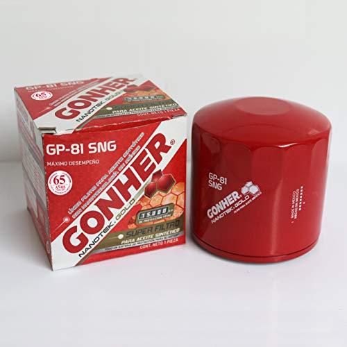 Gonher GP-81 SNG Filtro para Aceite Sintético, Tipo Sellado