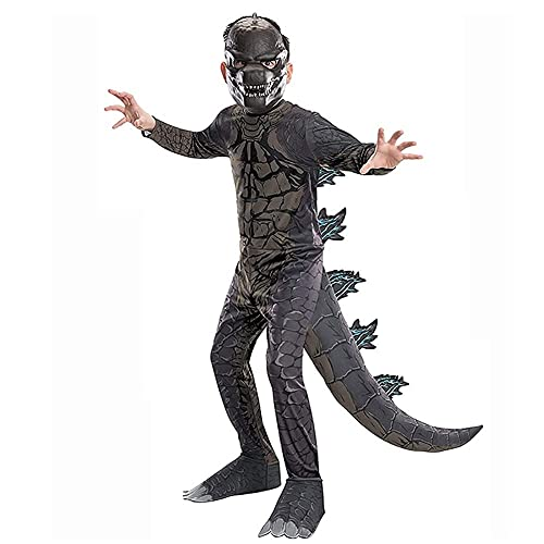 Rey de Monstruos Godzilla El Disfraz de niño Cosplay Halloween Navidad Vestido para niños (Color : 11-14 Years)