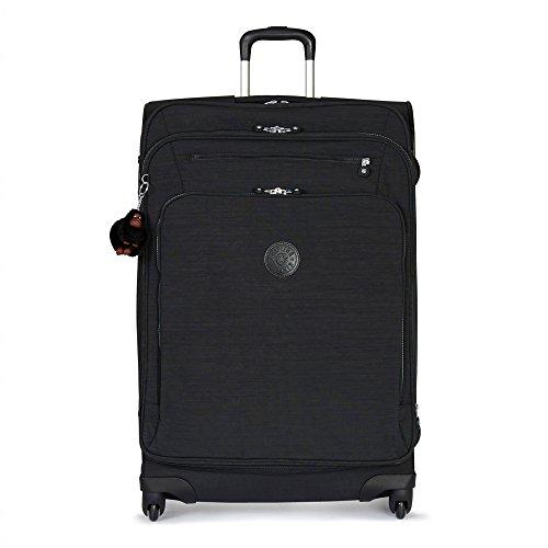 Kipling Youri Softisde Spinner Wheel Luggage, Dazz Black, Checked-Large 31-Inch