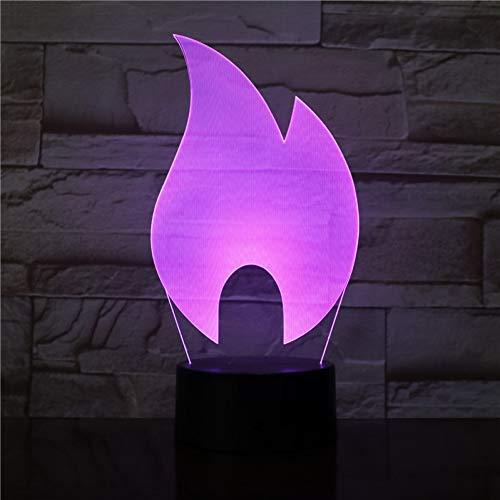 LPHMMD nachtlampje 3D-3156 abstract vuur vlam ontwerp LED nachtlamp acryl plaat LED Touch Base