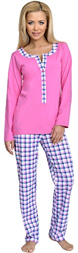 Be Mammy Damen Schlafanzug Stillpyjama 1L3C2 (Rosa-1, S)