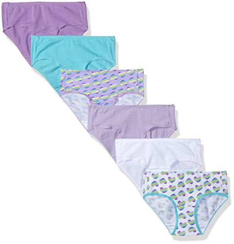 Fruit of the Loom Girls' Big Breathable Micro Underwear (Pack of 6), Cotton Mesh - Hipster (Assorted), 12