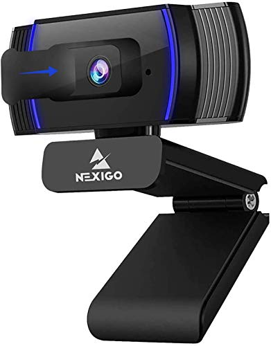 2020 1080p Webcam with Microphone and Privacy Cover, AutoFocus, Noise Reduction, HD USB Web Camera, for Zoom Meeting YouTube Skype FaceTime Hangouts, PC Mac Laptop Desktop (Renewed)