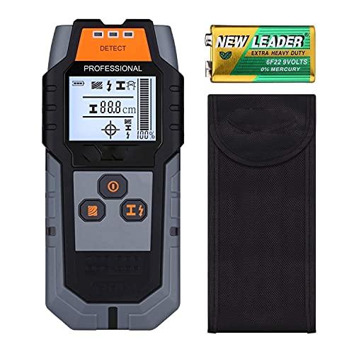 Ortungsgerät, Wand Scanner Detektor mit Großer LCD, Stud Finder Leitungssucher für Stromleitung Holz Metall
