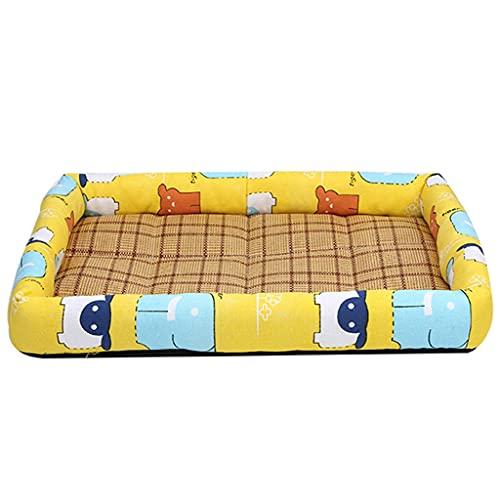 Flashing Cojín de algodón de verano para mascotas, casa para perros, alfombrilla para nidos, perros, gatos, cama para dormir, perrera para perros, perrera, manta, colchón lavable
