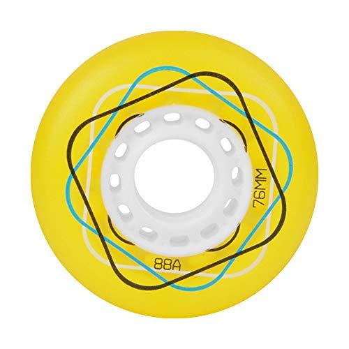 80mm 76mm 72mm für 85A Inline Skates Ersatz Skate Wheels 8er Pack mit Lagern für Kinder Teens Outdoor/Indoor Roller Hockey Wheels,Gelb,80mm