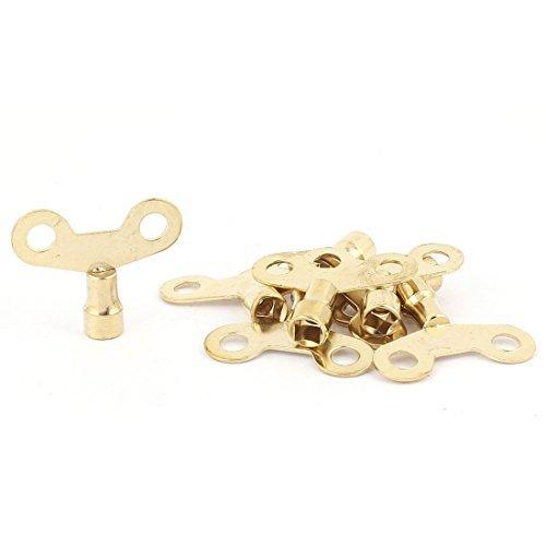 DealMux de agujeros cuadrados Grifo de Agua perilla llave del interruptor de 6 mm x 6 mm 8pcs dorado