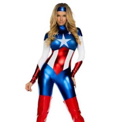 Ladies White Hot Super Hero Costume Comic Womens Adult Superhero Fancy Dress New
