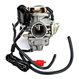 INNOGLOW 1PC Motorcycle Carburetor 150cc for Scooter Roketa SUNL Go Kart FREE Filter GY6 GY6 Carb 150cc PD24