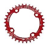 GHMOZ Deporte al Aire Libre Bicicletas Chainring 32T 38T 40T de Bicicletas de montaña y bielas Diente Figura 104 BCD for Shimano M370 M410 M610 M615 M670 Disc M780Toothed (Color : 34T Red)