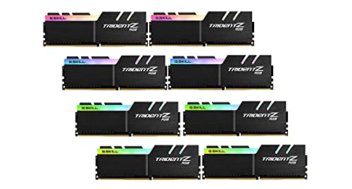 G.Skill Trident Z RGB Series RAM - 256 GB (Kit de 8 x 32 GB) - DDR4 3200 UDIMM CL14