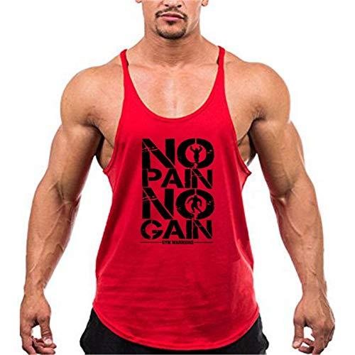 Meijin Chaleco deportivo Mallas de fitness para hombre, de algodón, sin mangas, camisetas para hombre, ropa interior, ropa deportiva, chaleco deportivo (color: rojo 175, tamaño: XXL)