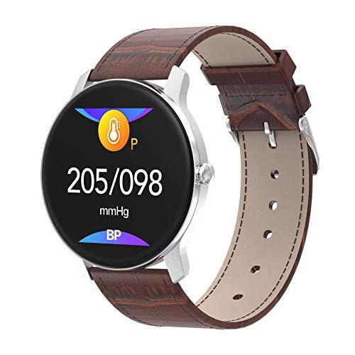 Smart Watch Bluetooth Fitness Tracker Sport Activity Tracker IP67 Waterdichte stappenteller voor Android en IOS-bruin