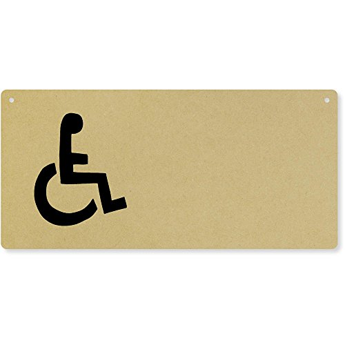Azeeda 'Wheelchair Symbol' Large Wooden Wall Plaque/Door Sign (DP00017149)