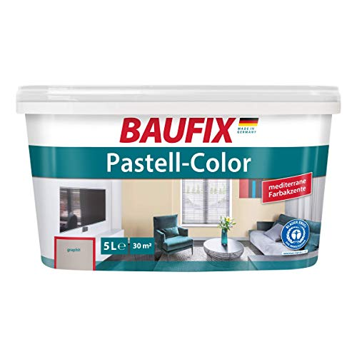 BAUFIX Pastell-Color Wand- & Deckenfarbe Graphit