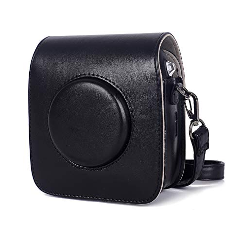 Phetium Schutztasche Kompatibel mit Instax Square SQ10 or Square SQ20 Hybride Sofortbildkamera, Kameratasche mit Weichem PU Leder Material und Schulterriemen (Schwarz)