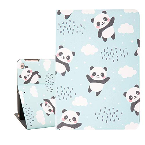 Hi Space Panda iPad Case 9.7,Cute Animal iPad Air 9.7,Folio Stand Smart Tablet Case Cover for iPad Air 1/2 5th/6th Gen 2017 2018 Auto Sleep Wakeup