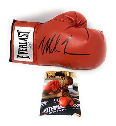Mike Tyson Signed Autograph Boxing Glove Black Ink Tyson Hologram Authentic Certified W/Pic