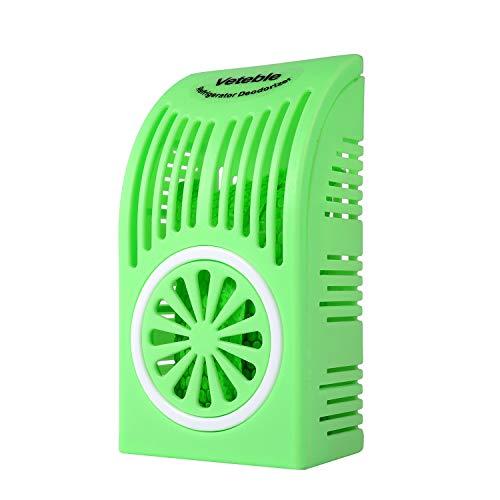 Veteble Reusable Refrigerator Deodorizer, Fridge & Freezer Odor Eliminator, Better Than Baking Soda, Green