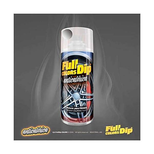 AutoFullCar Spray Pintura para Pinzas DE Freno ANTICALÓRICA ACRÍLICA Permanente FULLCOLORS by Full Dip (Aluminio…