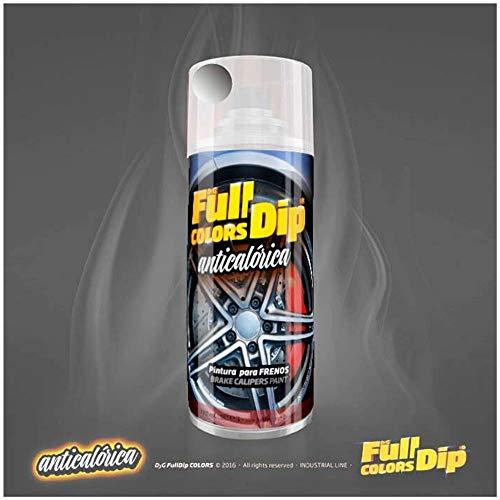 AutoFullCar Spray Pintura para Pinzas DE Freno ANTICALÓRICA ACRÍLICA Permanente FULLCOLORS by Full Dip (Aluminio Metalizado)