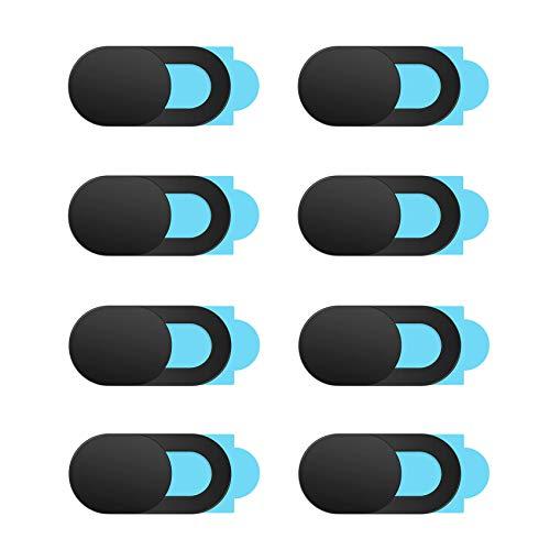JeoPoom Webcam Abdeckung[8 Stück], Ultra Dünn Webcam Cover, Slide Kameraabdeckung Schutz Ihrer Privatsphäre Online, Kamera Abdeckung für Computer Laptop, MacBook Pro, Smartphone, PC