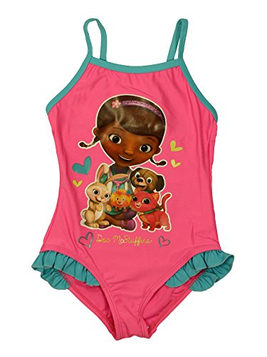 Doc McStuffins Official Girls Swimsuit 5Years Pink