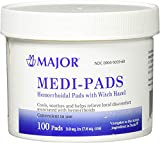 [3 PACK] Medi-Pads Maximum Strength With Witch Hazel Hemorrhoidal Hygienic Cleansing Pads 100 Ct *Compare to the same active ingredient in Tucks Pads & Save!*