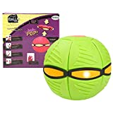 Magic UFO Ball with Lights, Flying Saucer Ball Deformation Light, with LED Light Flying Toys Magic Flying Ball Vent Ball Decompression Parent-Child Toy Frisbee Boomerang for Children's Gifts 3 Lights