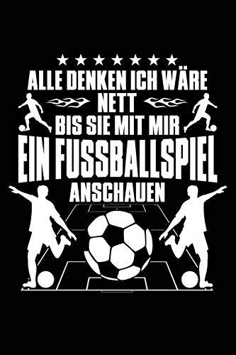 Nett bis zum Fußballspiel: Notizbuch / Notizheft für Fußball Fußballer-in Fußballspieler-in Fußball-Fan A5 (6x9in) liniert mit Linien