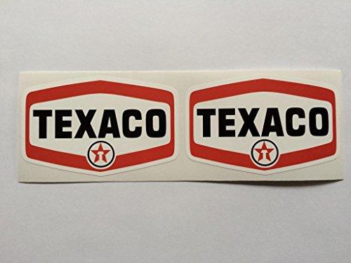 2 Texaco Badge Style Die Cut Decals