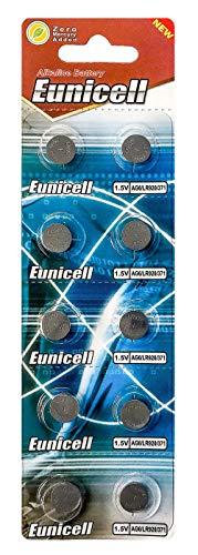 10 x AG1 Alkaline button cell batteries - G1 LR60 LR621 SR621W 364 type